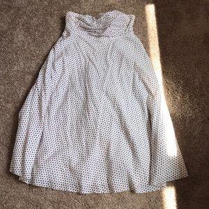 J.Crew polka dotted, strapless dress